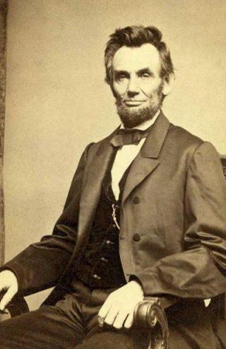 Abraham Lincoln in 1863. Hij is dan 54 jaar oud. (Bron: Wikipedia.org)