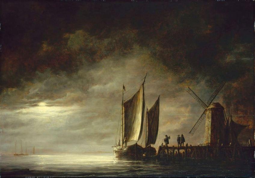 Aelbert Cuyp, Vissersboten bij maanlicht, Wallraf-Richartz-Museum