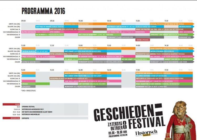 Blokkenschema Geschiedenis Festival - Klik voor grotere versie