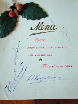 Het kerstmenu in Neubrandenburg op 25 december 1944