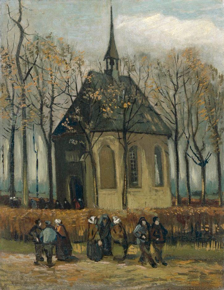 Het uitgaan van de Hervormde Kerk te Nuenen (1884-85)