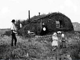 Huis van een een emigrant in North-Dakota (1898)