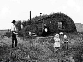 Huis van een een emigrant in North-Dakota (1898)