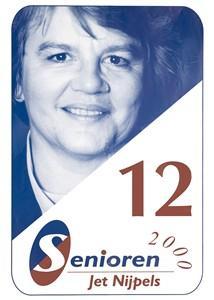 Jet Nijpels op een verkiezingsposter van Senioren 2000 (verkiezingsaffiches.nl)