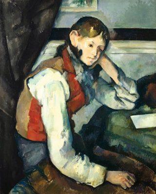 Jongen in rood vest – Paul Cezanne