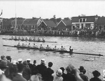 Roeiwedstrijd tijdens de Spelen van 1928 - © The Coca-Cola Company & Olympisch Stadion Amsterdam