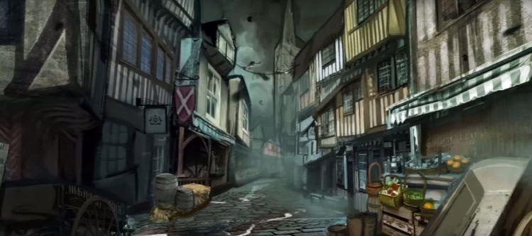 Animatie Londen voor de brand (still YouTube)