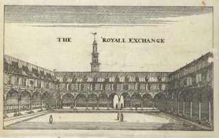 The royall exchange, getekend in 1668