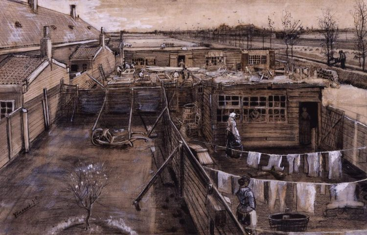 Vincent van Gogh, Timmermansloods en wasserij, eind mei 1882