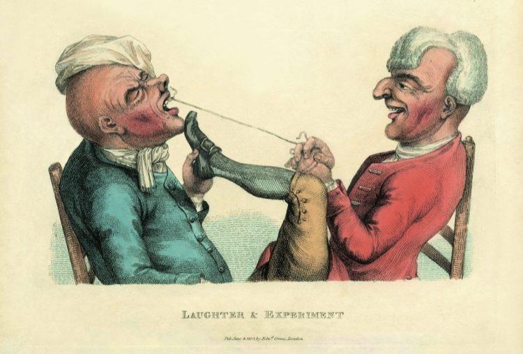 Timothy Bobbin Laughter & Experiment, 1773 (editie 1810) ets, met de hand gekleurd, 160 x 210 mm