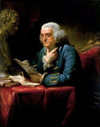 Benjamin Franklin - Schilderij van David Martin (1767)