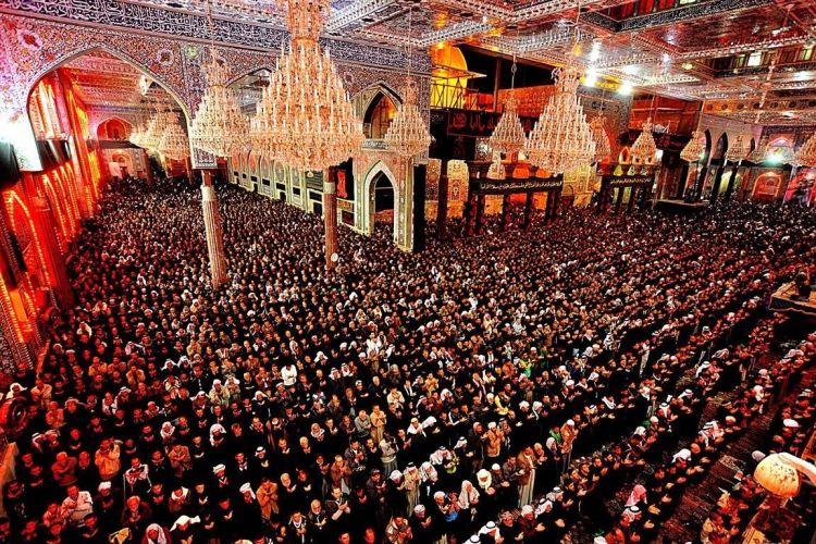 De grootste jaarlijkse pelgrimstocht vindt plaats in het Irakese Karbala