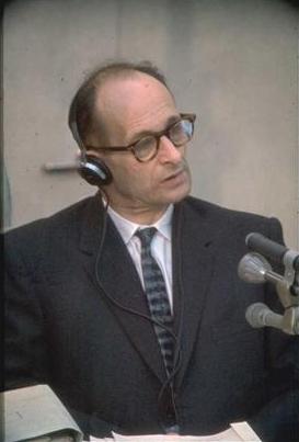 Eichmann tijdens het proces in Israël, 1961