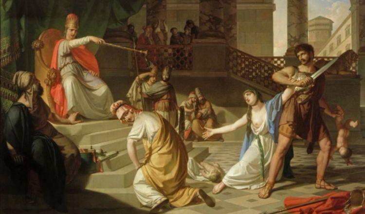 Salomonsoordeel - Schilderij van Franc Kavčič