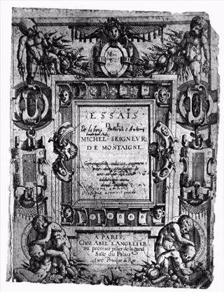 Titelblad van derde deel van Montaignes Essais - cc