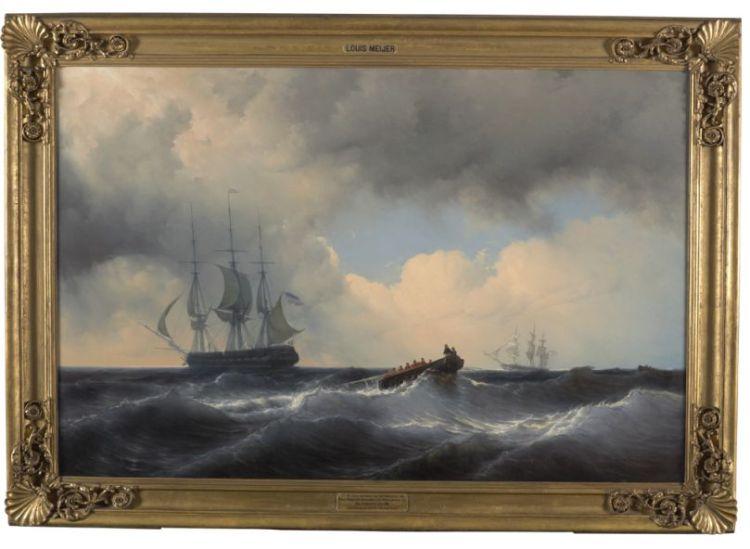 Louis Meijer. Man over boord tijdens een eskaderreis olv Prins Hendrik naar de Middellandse Zee, 1846