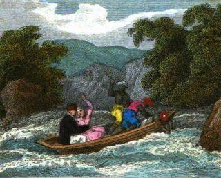 Afbeelding uit het kinderboek van Belzoni en zijn vrouw