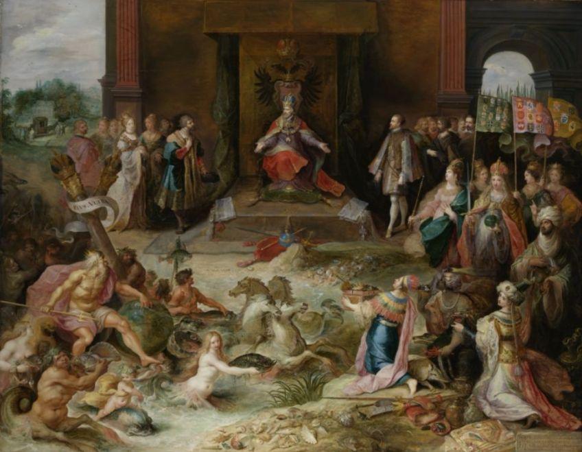 Allegorie op de troonsafstand van Karel V – Frans Francken II uit 1620 (Rijksmuseum Amsterdam)