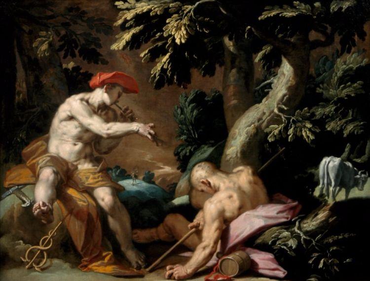 Hermes, Argus en Io - Abraham Bloemaert