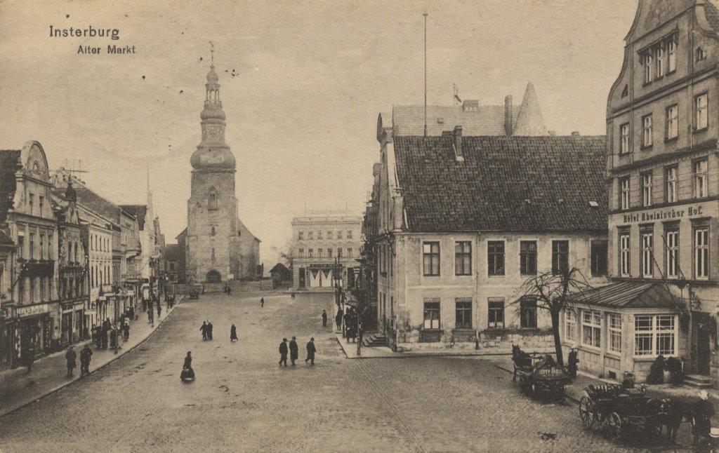 Insterburg, bron: antieke ansichtkaart