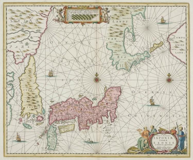 Japan (1652). Kaart van Johannes Janssonius.