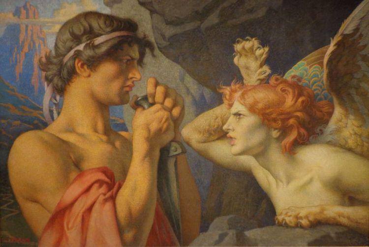 Oedipus en de sfinx - François-Émile Ehrmann