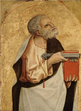 Petrus met de sleutels van de hemel - Carlo Crivelli