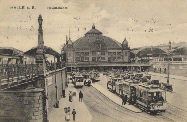 Station van Halle, bron: antieke ansichtkaart