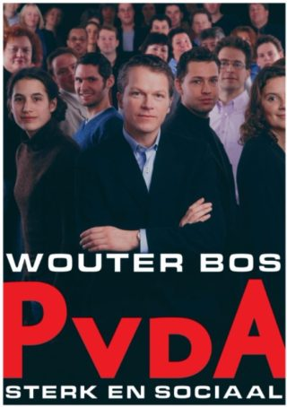 Wouter Bos op een PvdA-verkiezingsposter uit 2003 - cc