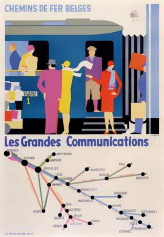 Affiche Les Grandes Communications, Leo Marfurt, 1928