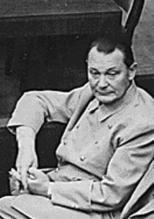 Göring tijdens het Proces van Neurenberg