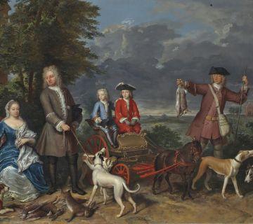 Gerard Hoet, portret familie Quarles, circa 1725. Haags Historisch Museum
