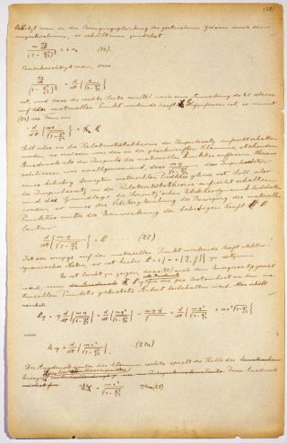 Manuscript van de relativiteitstheorie van Einstein - © The Israel Museum, Jerusalem Photo: Avshalom Avital