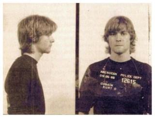 Mugshot van Kurt Cobain