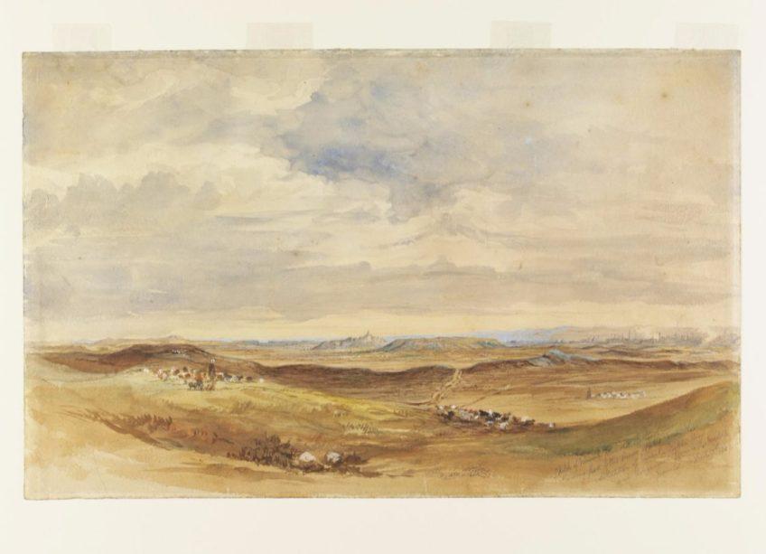 Nineveh, gezien vanaf het noordoosten, 1849