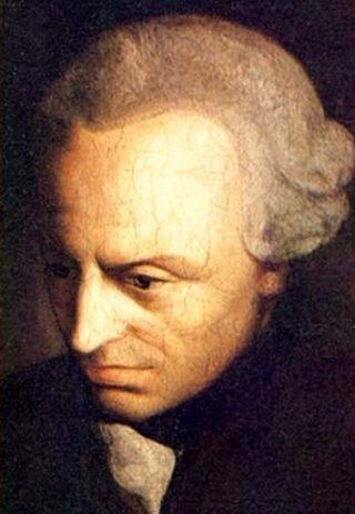 Portret van Immanuel Kant op middelbare leeftijd