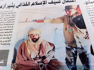 Saif al-Islam na zijn arrestatie - cc