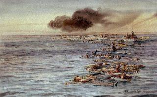 Slachtoffers van de ramp - Schilderij van William Lionel-Wyllie.jpg