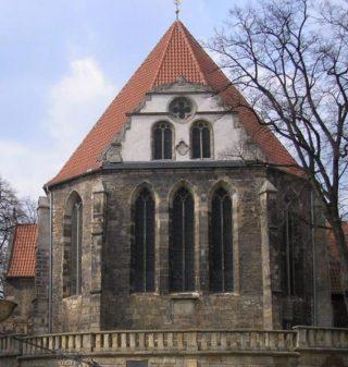 Neue Kirche in Arnstadt, waar Johann Sebastian Bach organist was - cc