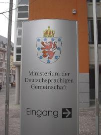 Ingang van het ministerie van de Duitstalige Gemeenschap van België