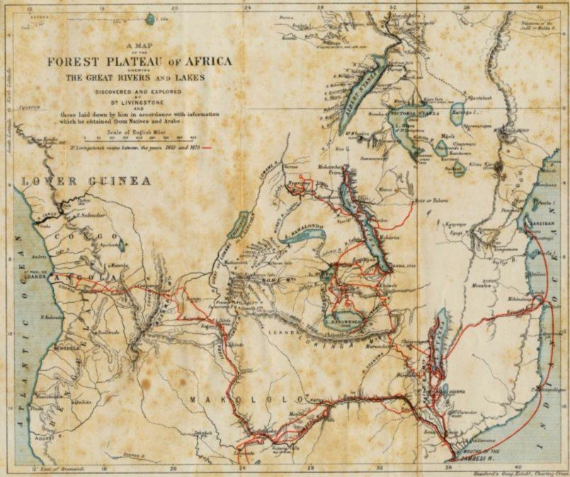David livingstone 1813 1873 ontdekkingsreiziger en zendeling - Kaart evenwicht tussen werk en ...