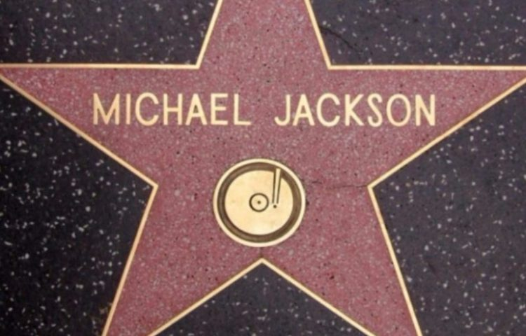 Michael Jacksons ster op de Hollywood Walk of Fame - cc