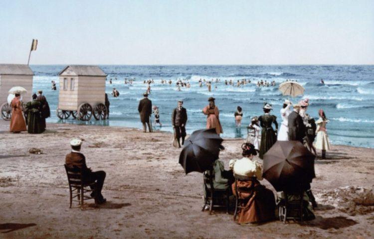 Strand in Blankenberge, 1900