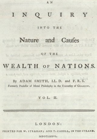 Titelpagina van Adam Smith's The Wealth of Nations