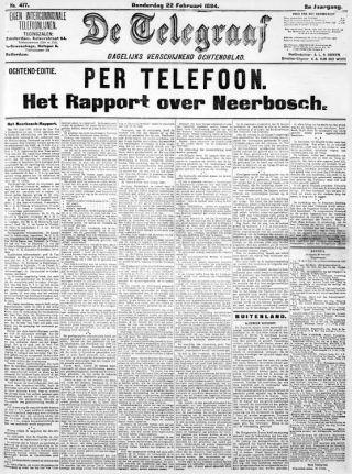 De Telegraaf over de Neerbosch-kwestie (Delpher)