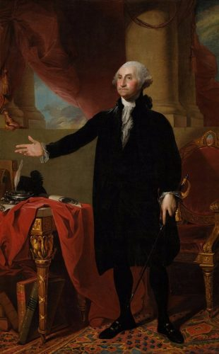 George Washington op het Lansdowne portrait