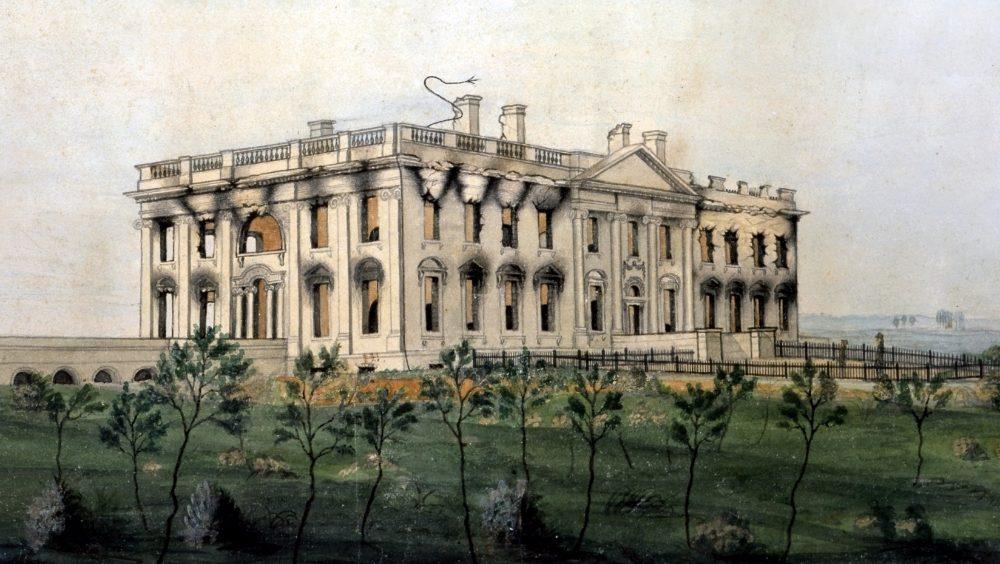 Het Witte Huis na de brand van 1814 (George Munger)
