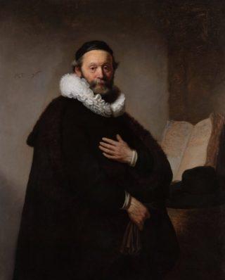 Johannes Wtenbogaert door Rembrandt van Rijn (1633)