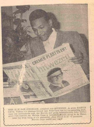 Marvin Gaye in Holland - Hitwezen 11-12-1964