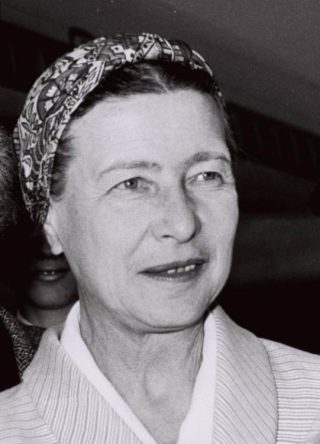 Simone de Beauvoir in 1967